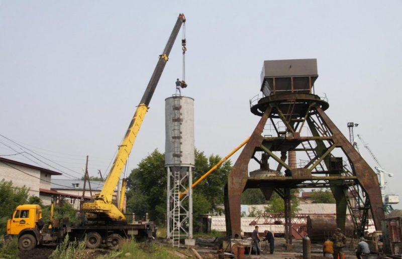 Монтаж бетонного завода